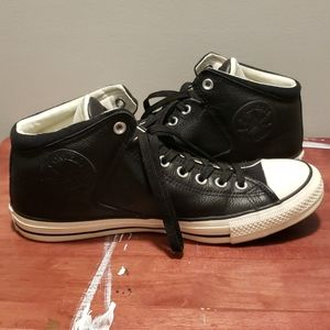 Converse All Star High Tops Black Leather
